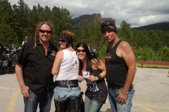 Full Throttle Rider showing their Eagles Healing nest tshirts