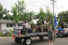 back of the parade float